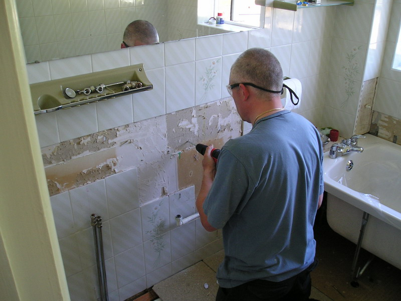Bathroom During Re-Fit