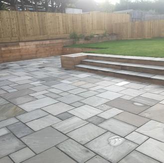 Alun Gedrych - grey sandstone patio