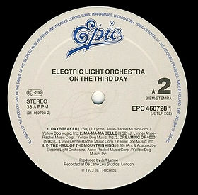 ELO - On The Third Day EPC 460728 1