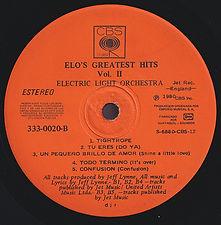 ELO Greatest Hits Vol 2 - Ecuador