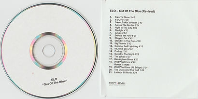 """Out Of The Blue - Revised"" Promo CD-R"