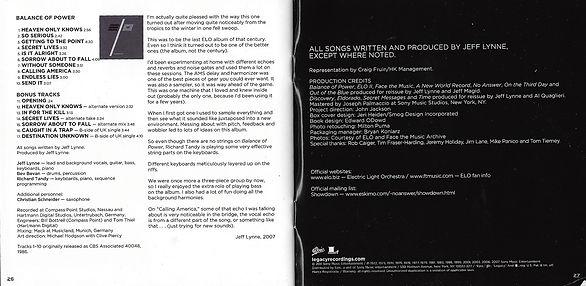 ELO Balance Of Power Booklet - Classic Albums Box Set