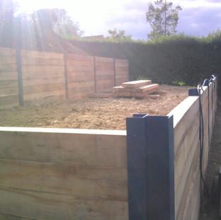 Alun Gredrych - Oak Sleeper Retaining Walls