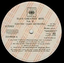 ELO Greatest Hits Vol 2 - Ecuador Promo