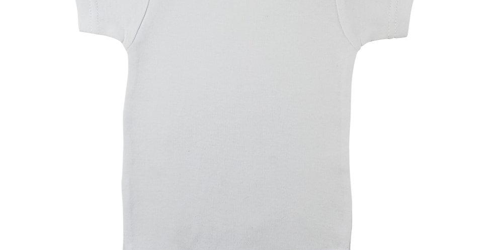 White Interlock Short Sleeve Onezie