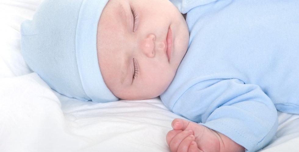 "Pastel Rib Knit Beanie ""Baby's First Cap"""