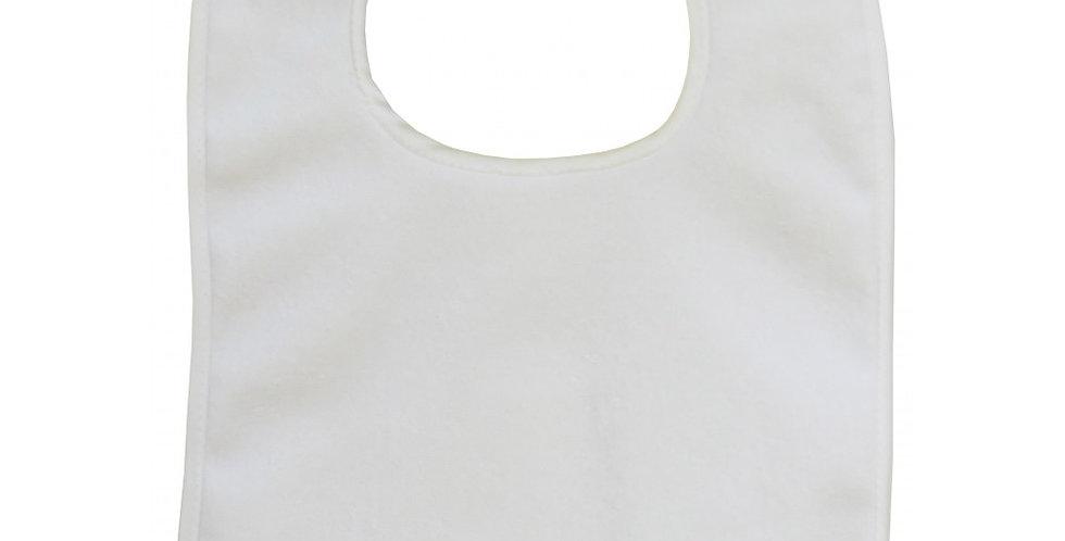 White 2-Ply Terry Full-Size Infant Bib