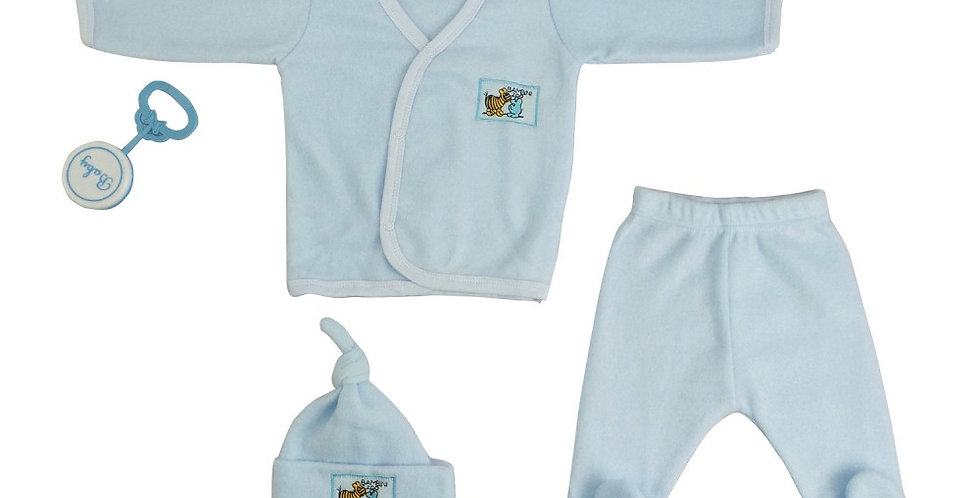 4-Piece Pastel Fleece newborn/baby Gift Set