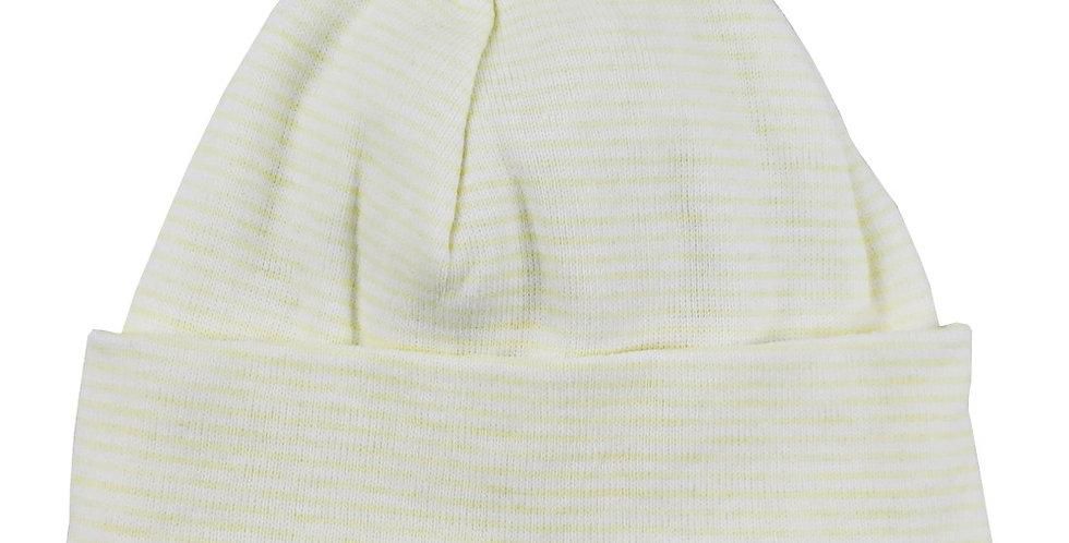 "Striped Rib Knit Beanie ""Baby's First Cap"""