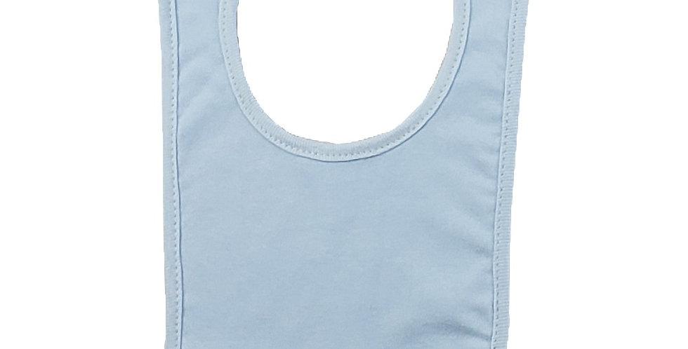 2-Ply Interlock Solid Pastel Blue Infant Bib