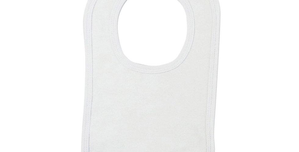 2-Ply Interlock White with White Trim Infant Bib