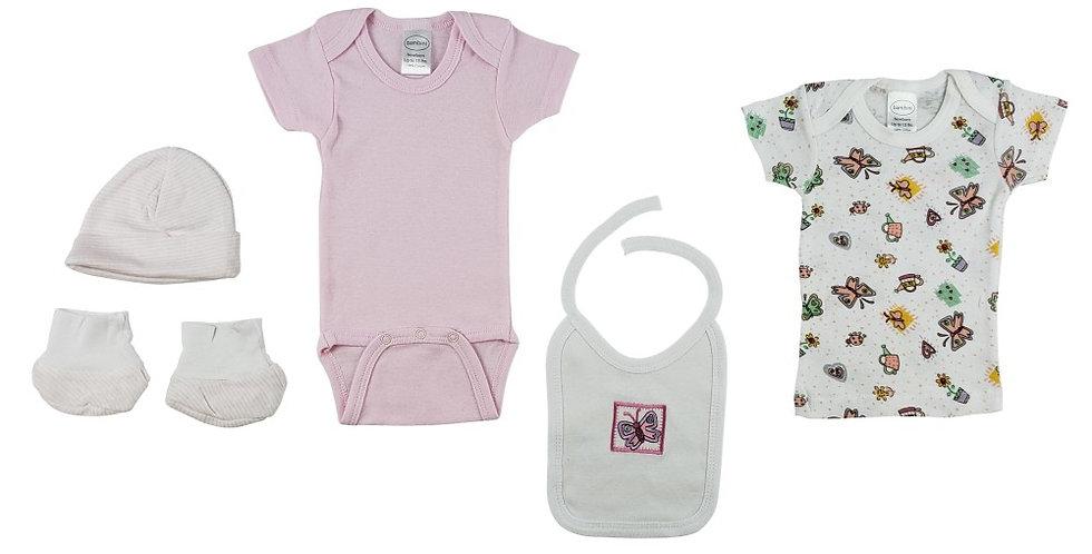 5-Piece Pastel Interlock Newborn Boxed Gift Set