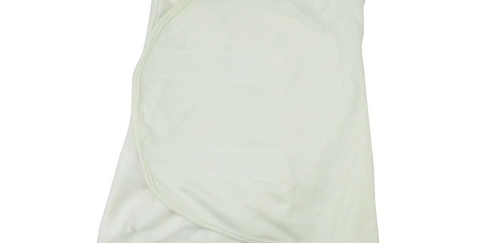 Cream Interlock Swaddle Blanket