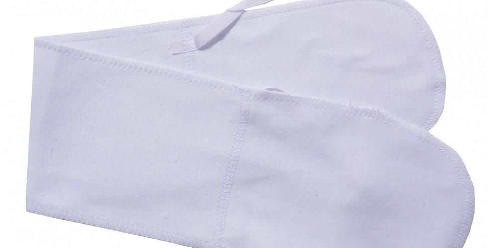 Rib Knit White Abdominal Binder