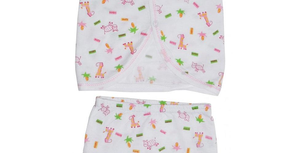 Jersey Print Diaper Shirt with Training Pants Set