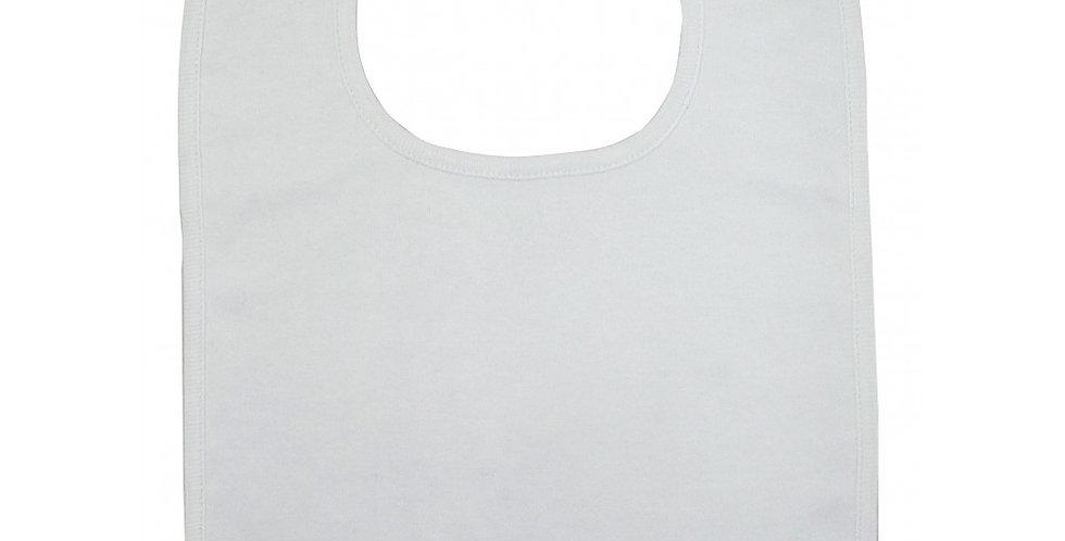 2-Ply Large Interlock White Bib