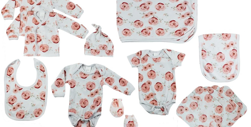 Rose Print 13 Piece Set