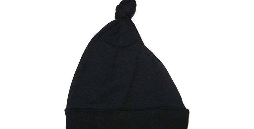 Black Knotted Baby Cap