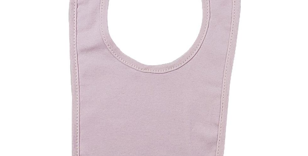 2-Ply Interlock Solid Pastel Pink Infant Bib