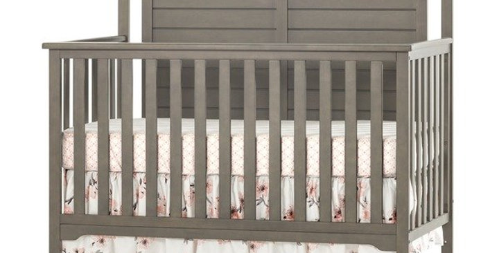 Forever Eclectic™ Hampton Curve Top 4-in-1 Convertible Baby Crib