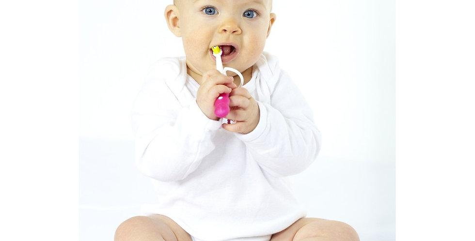 Girl's Rib Knit Pastel Long Sleeve Onezie 3-Pack