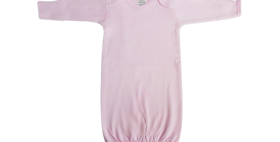 Pink Interlock Infant Gown