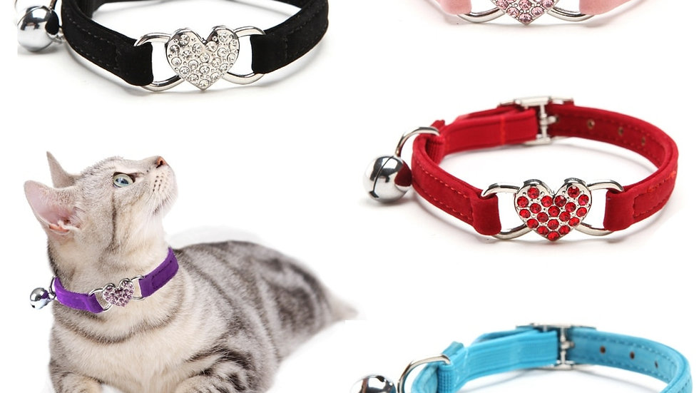 Cat Collar With Bell Collar for Cats Kitten Puppy Leash Collars for Cats Dog