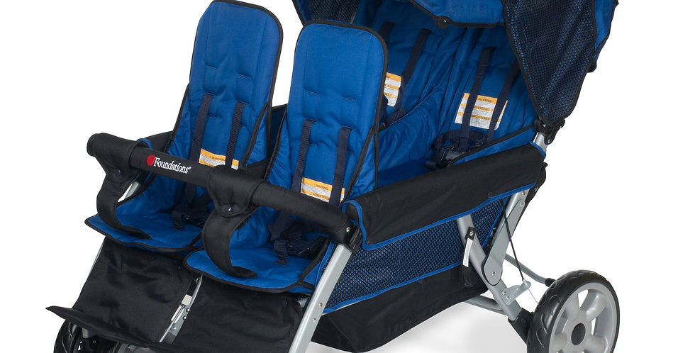 The LX4™ 4-Passenger / Dual Canopy Folding Stroller