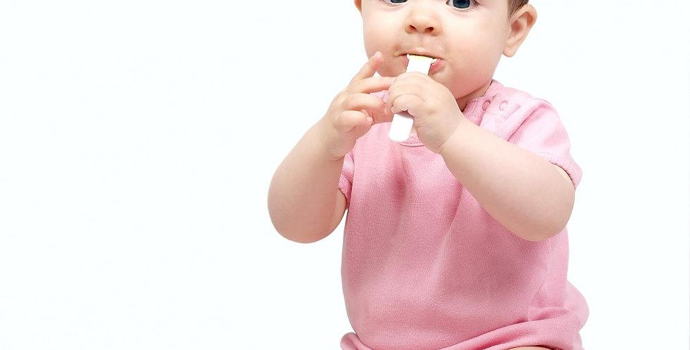 Baby Girl's Rib Knit Pastel Short Sleeve T-Shirt 3-Pack