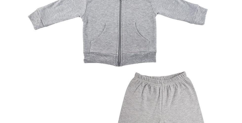 Heather Grey Interlock Sweat Pants and Hoodie Set