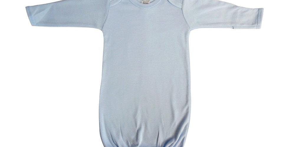 Blue Interlock Infant Gown