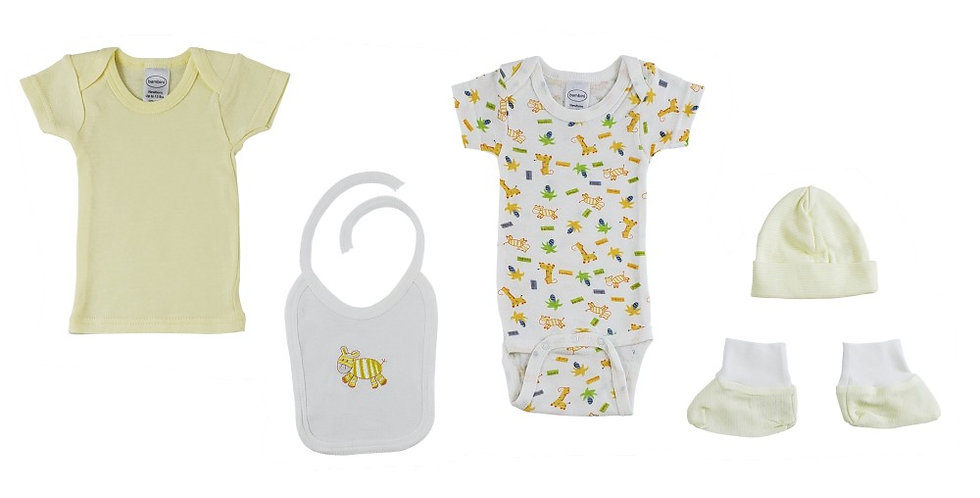 5-Piece Pastel Interlock Hanging Gift Set - Giraffe