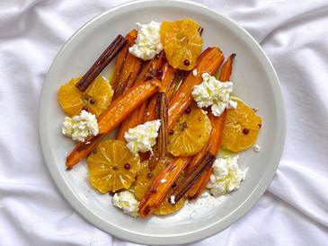 焼き人参サラダ・みかんやオレンジのフルーティーさを引き出すオリーブオイルパワー
