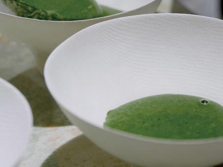 ほうれん草のグリーンスープ