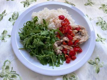 鶏出汁炊き込みご飯 たっぷりオリーブオイルを使って