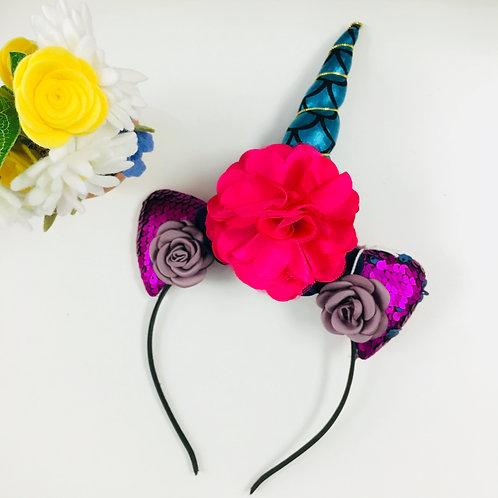 Unicorn Headband - Blue Horn