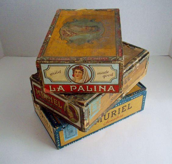 vinatge cigar boxes (assorted)