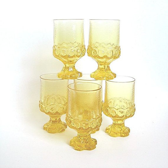 Maderia Citron Yellow Beverage Glasses