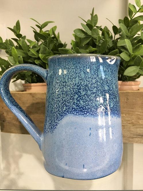 Ceramic Pottery Jug Locally Handmade- Light/Dark Blue