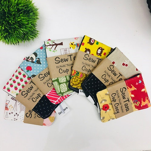 Sewn Fabric Cup Cozies