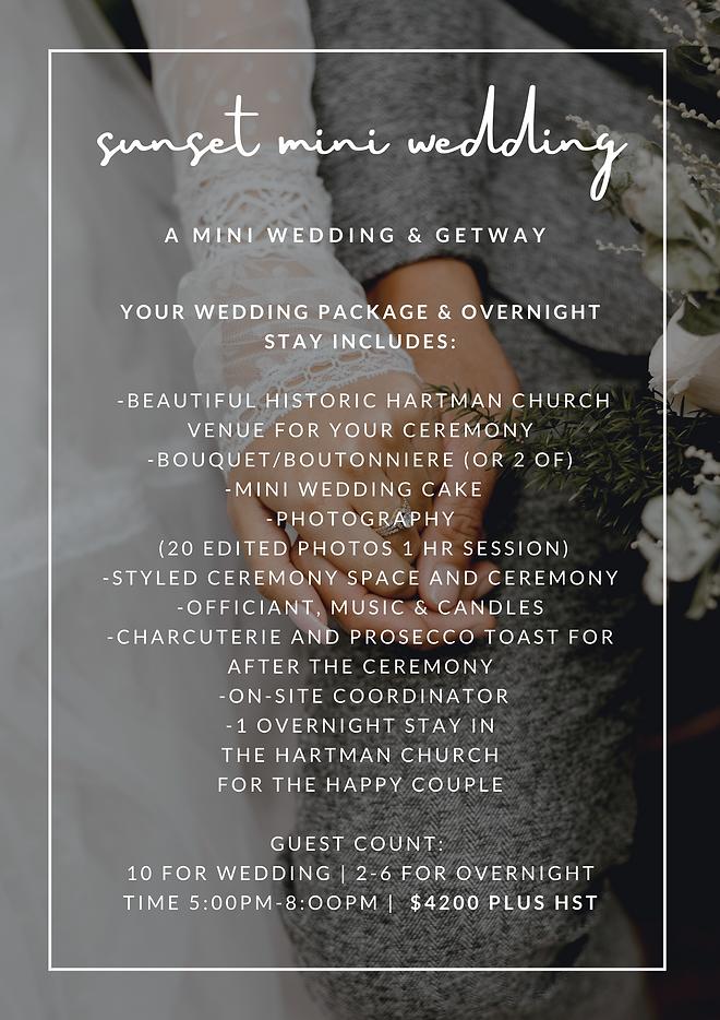 hartman micro wedding