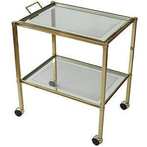deco brass tea/bar trolley