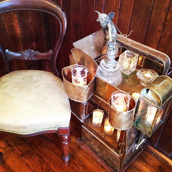 vintage brass noodle cart