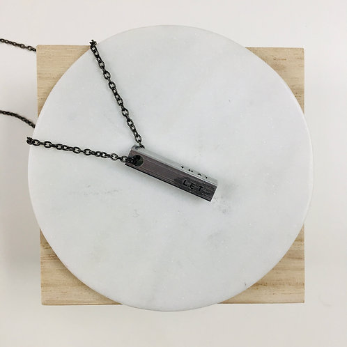 """""""Let the shit go"""" Hand Stamped Bar Necklace"""