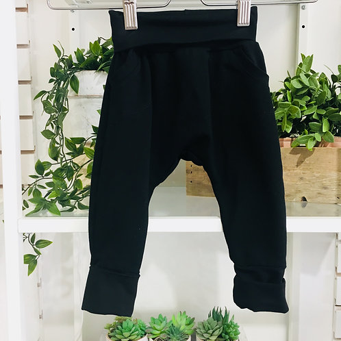 Boozoo Baby Black Grow with Me Joggers size 1-3 years