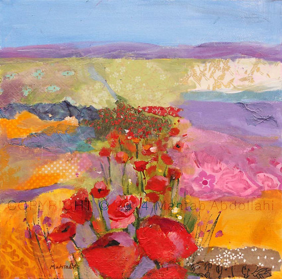 Mahtab Abdollahi- Poppies field