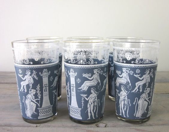 Jeanette Glasses with Wedgwood Blue (set or 6)
