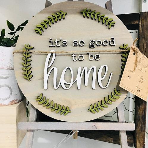 Round Wooden Sign