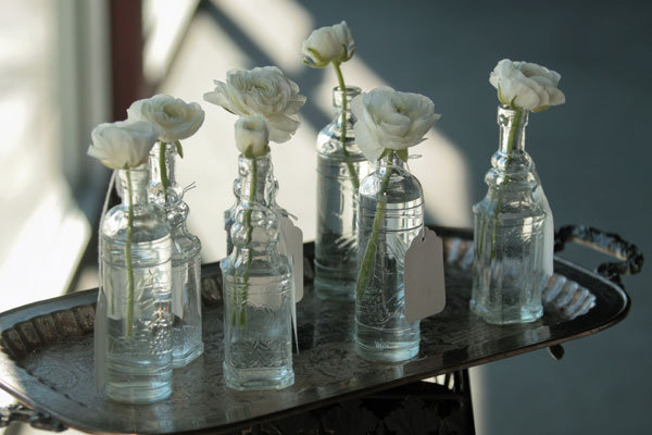 small vintage glass bottles