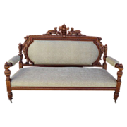 antique settee/bench (french blue)